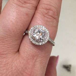 Sterling silver engagement ring.